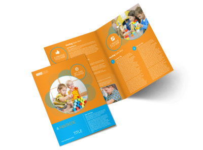 Head Start Child Development Bi-Fold Brochure Template preview