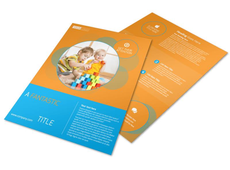 Head Start Child Development Flyer Template