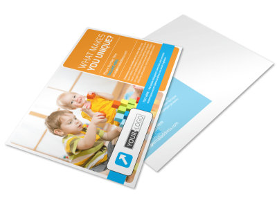 Head Start Child Development Postcard Template preview