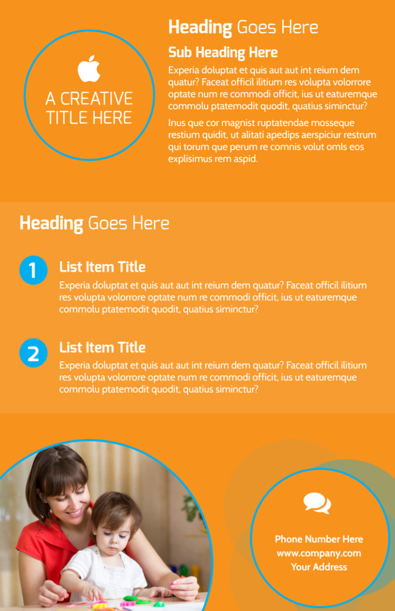 Head Start Child Development Flyer Template Preview 3