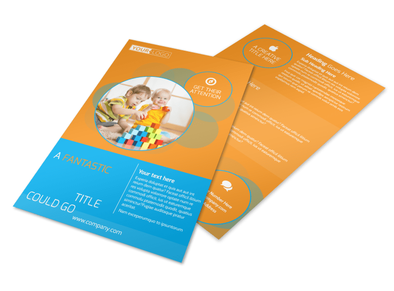 Head Start Child Development Flyer Template Preview 1