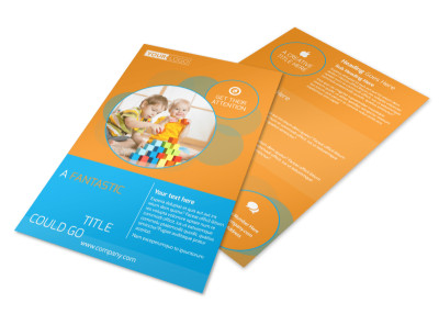 Head Start Child Development Flyer Template preview