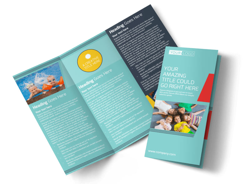 Community Children Center Tri-Fold Brochure Template