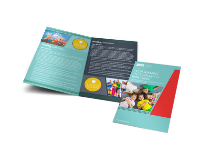 Community Children Center Bi-Fold Brochure Template
