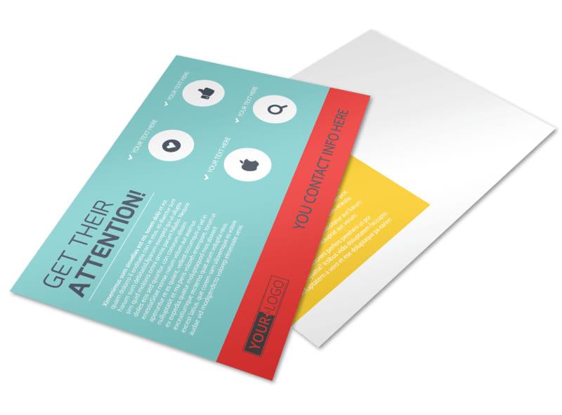 Community Children Center Postcard Template