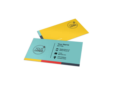 Community Children Center Business Card Template preview