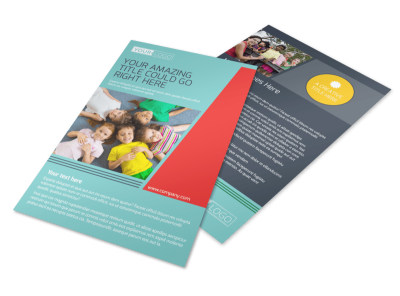 Community Children Center Flyer Template