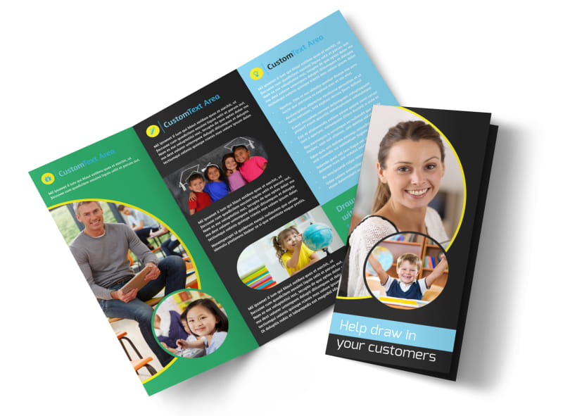 Academy For Children Tri-Fold Brochure Template