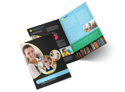 Academy For Children Bi-Fold Brochure Template preview