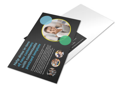 Academy For Children Postcard Template preview