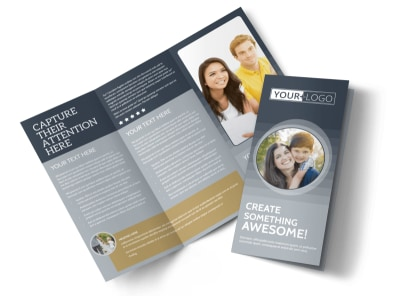 Domestic Adoption Agency Tri-Fold Brochure Template preview