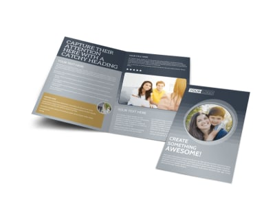 Domestic Adoption Agency Bi-Fold Brochure Template preview