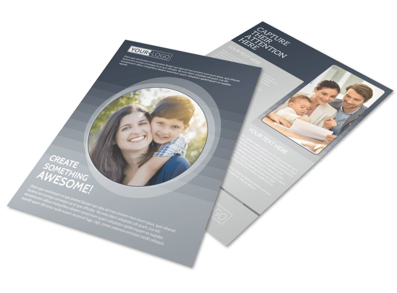 Domestic Adoption Agency Flyer Template