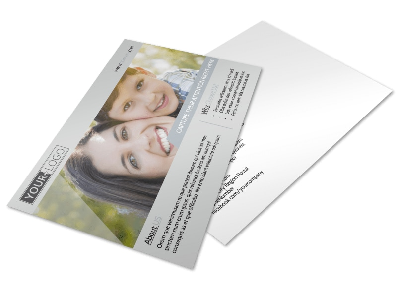 Domestic Adoption Agency Postcard Template