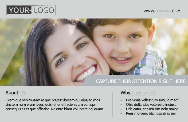 Domestic Adoption Agency Postcard Template Preview 2