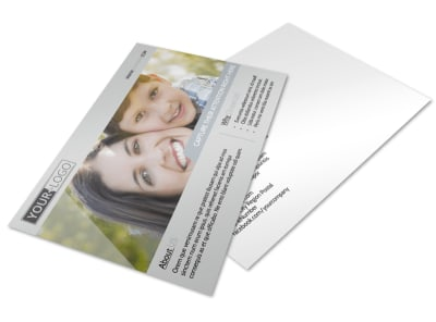 Domestic Adoption Agency Postcard Template preview