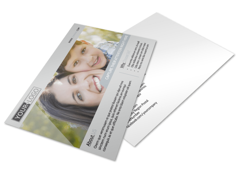 Domestic Adoption Agency Postcard Template Preview 1