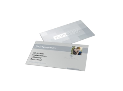 Domestic Adoption Agency Business Card Template preview