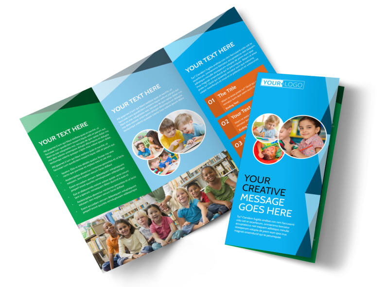 child care early education brochure template mycreativeshop