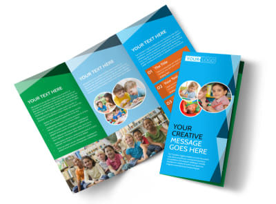 Child Care & Early Education Tri-Fold Brochure Template preview