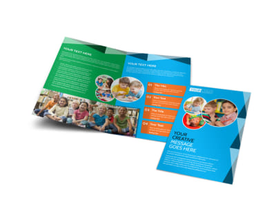 Child Care & Early Education Bi-Fold Brochure Template preview