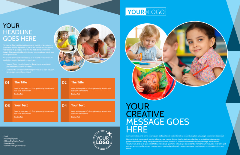 Child Care & Early Education Brochure Template Preview 2