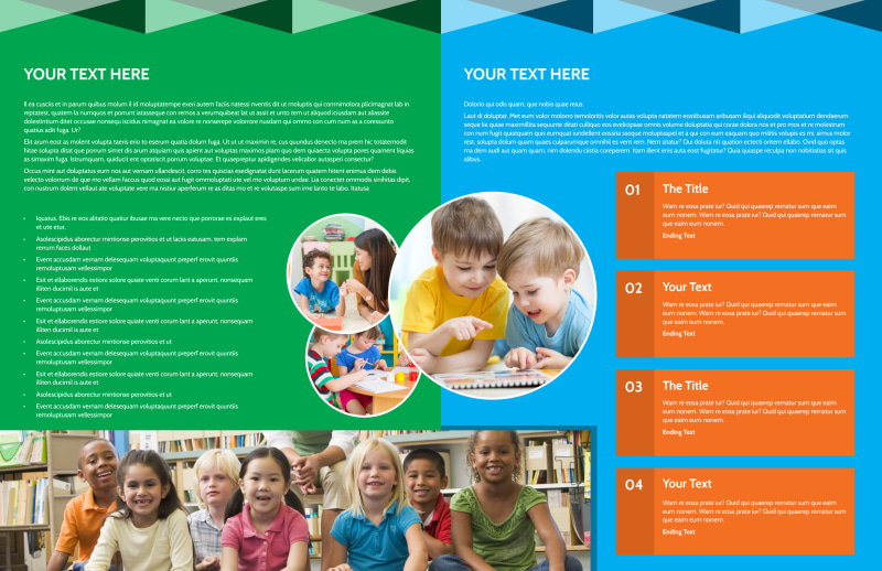 Child Care & Early Education Brochure Template Preview 3