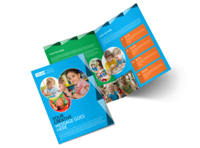Child Care & Early Education Bi-Fold Brochure Template