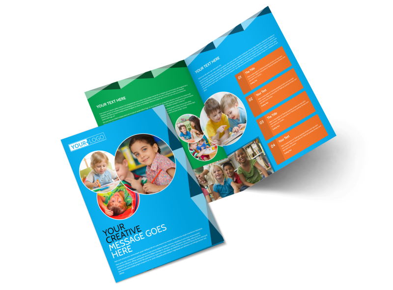 Child Care & Early Education Brochure Template Preview 1