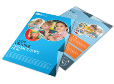 Child Care & Early Education Flyer Template preview