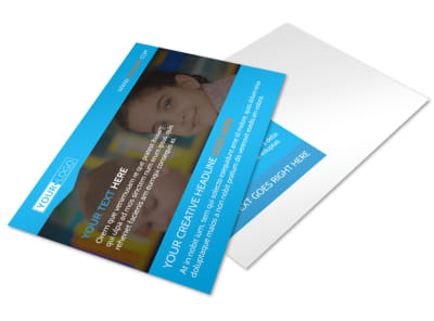 Child Care & Early Education Postcard Template