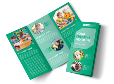 Drop-in Daycare Tri-Fold Brochure Template