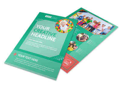 Drop-in Daycare Flyer Template preview
