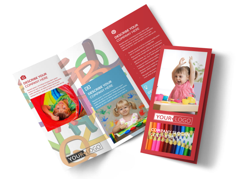 Early Start Daycare Tri-Fold Brochure Template