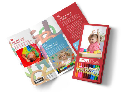 Early Start Daycare Tri-Fold Brochure Template preview