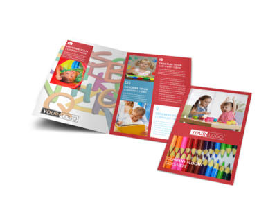 Early Start Daycare Bi-Fold Brochure Template preview