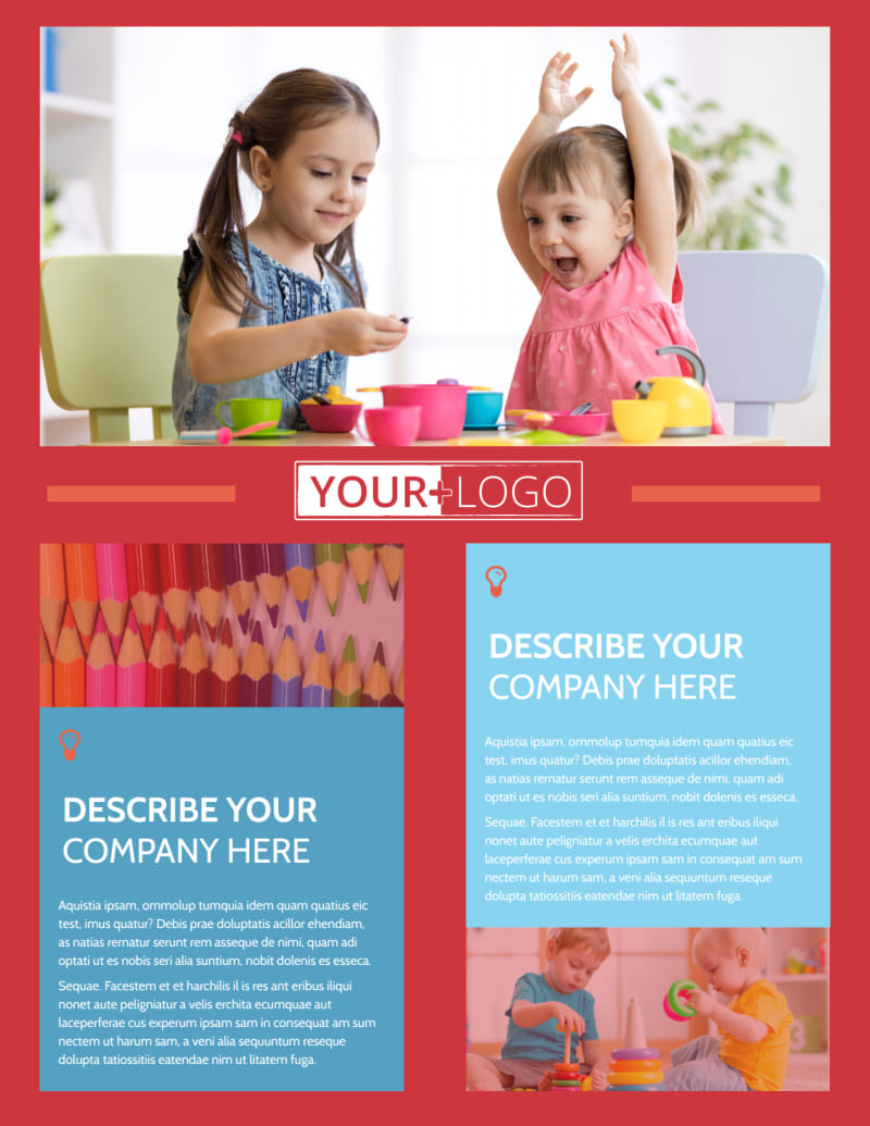 Early Start Daycare Flyer Template Preview 2