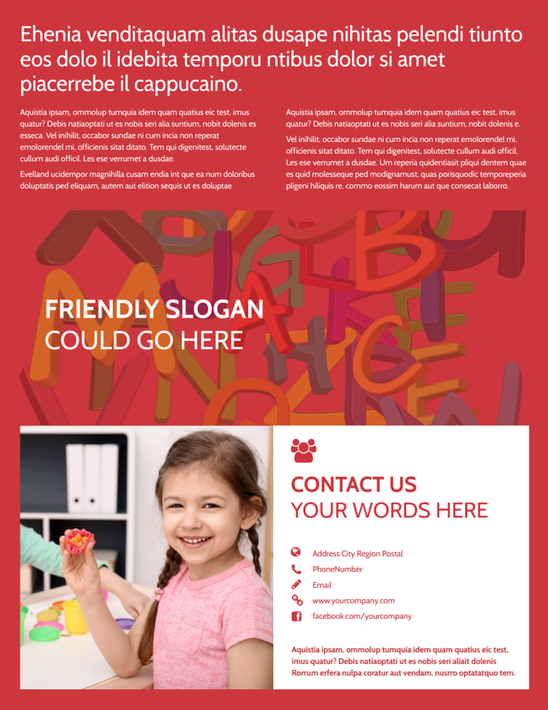 Early Start Home Daycare: Early Start Daycare Flyer Template