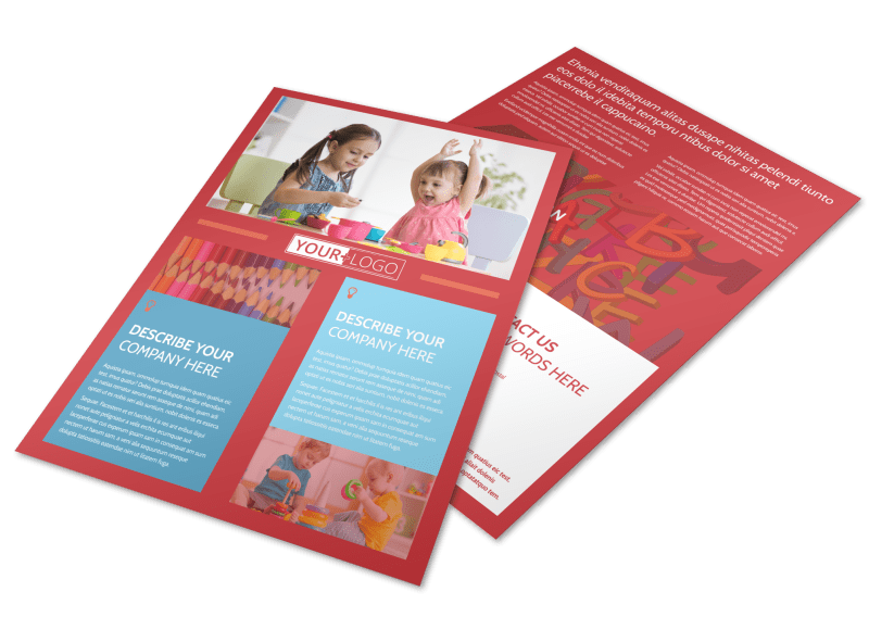 Early Start Daycare Flyer Template Preview 1