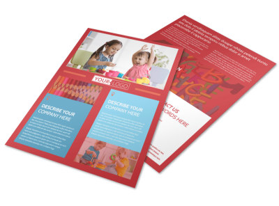 Early Start Daycare Flyer Template preview