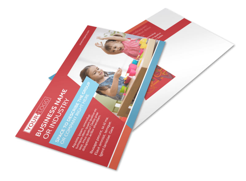 Early Start Daycare Postcard Template
