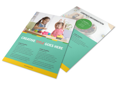 Happy Daycare Flyer Template preview