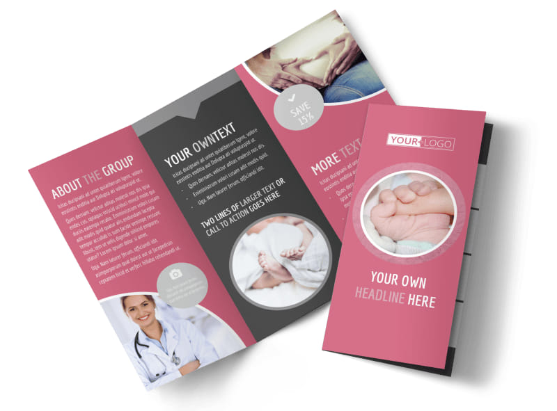 Infant Care Tri-Fold Brochure Template