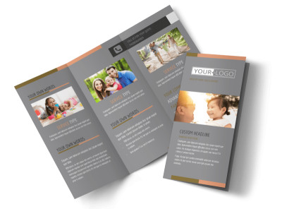 International Adoption Agency Tri-Fold Brochure Template preview