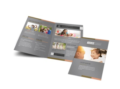 International Adoption Agency Bi-Fold Brochure Template