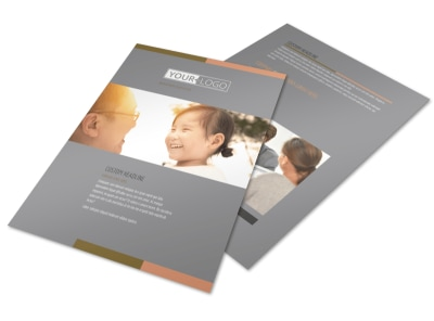 International Adoption Agency Flyer Template preview