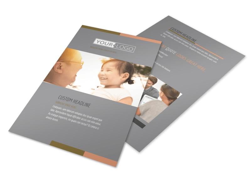 International Adoption Agency Flyer Template