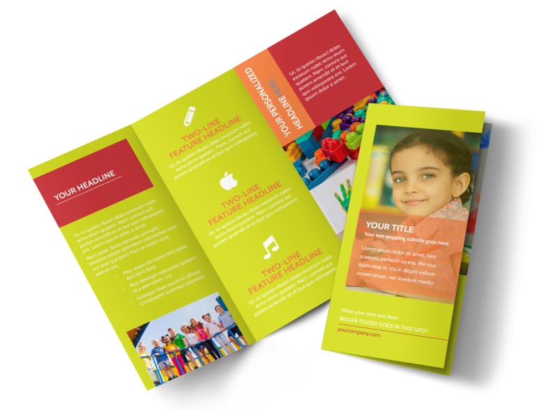 Preschool Childcare Program Tri-Fold Brochure Template