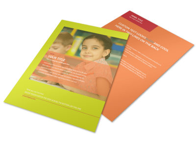 Preschool Childcare Program Flyer Template