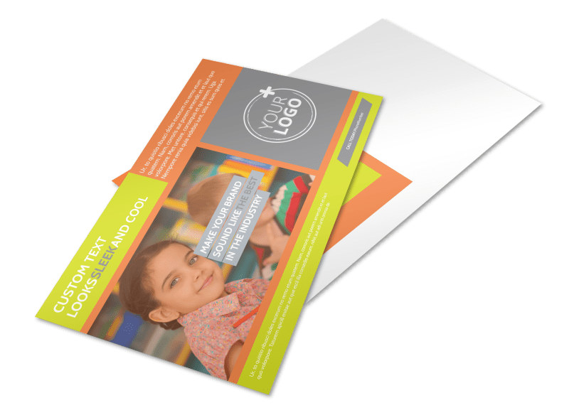 Preschool Childcare Program Postcard Template